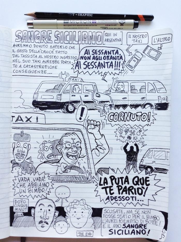 fumetti di viaggio Argentina