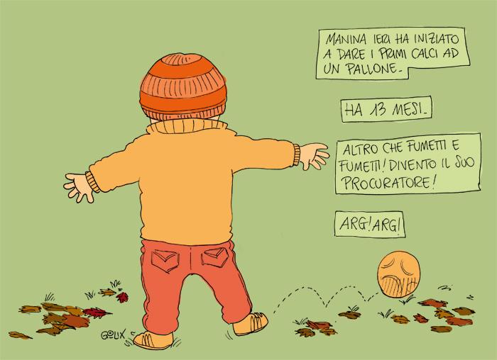 figlio che gioca a calcio aumetti